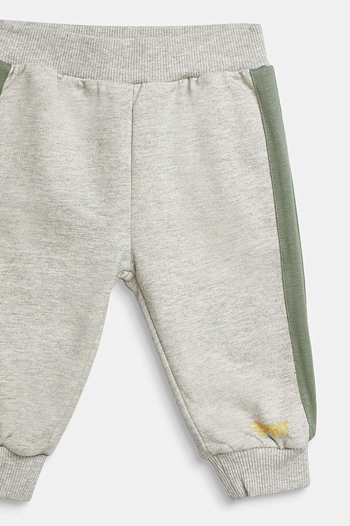 Tracksuit bottoms made of 100% organic cotton, MEDIUM GREY, detail image number 2
