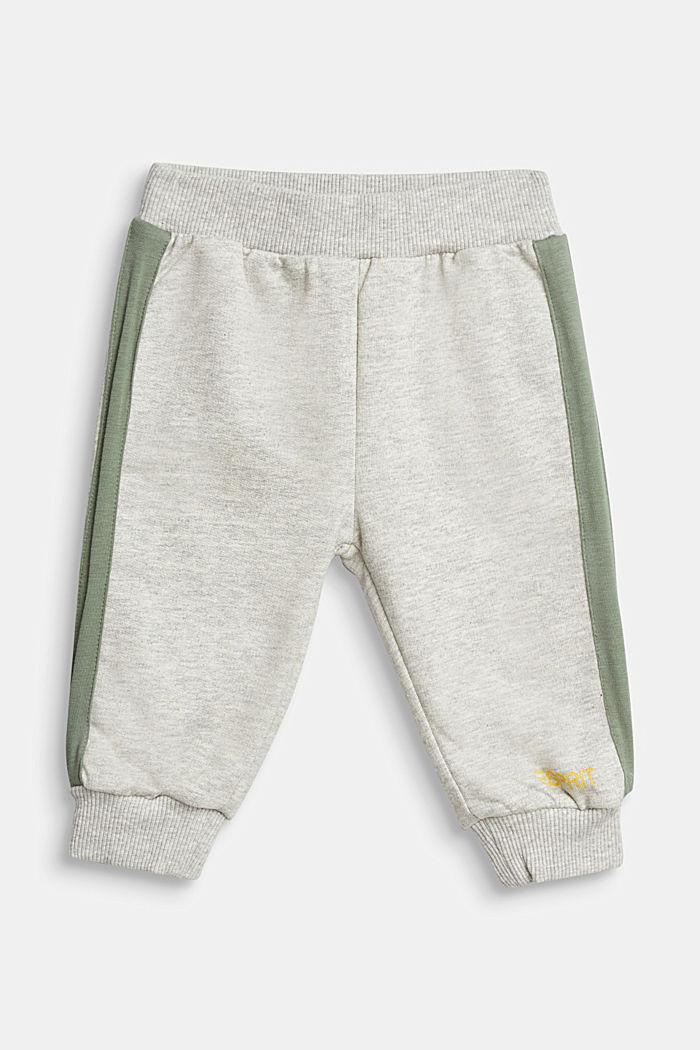 Tracksuit bottoms made of 100% organic cotton, MEDIUM GREY, detail image number 0