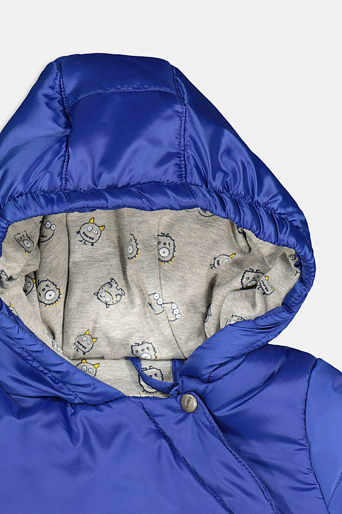 Padded jacket with jersey lining, BRIGHT BLUE, detail image number 2