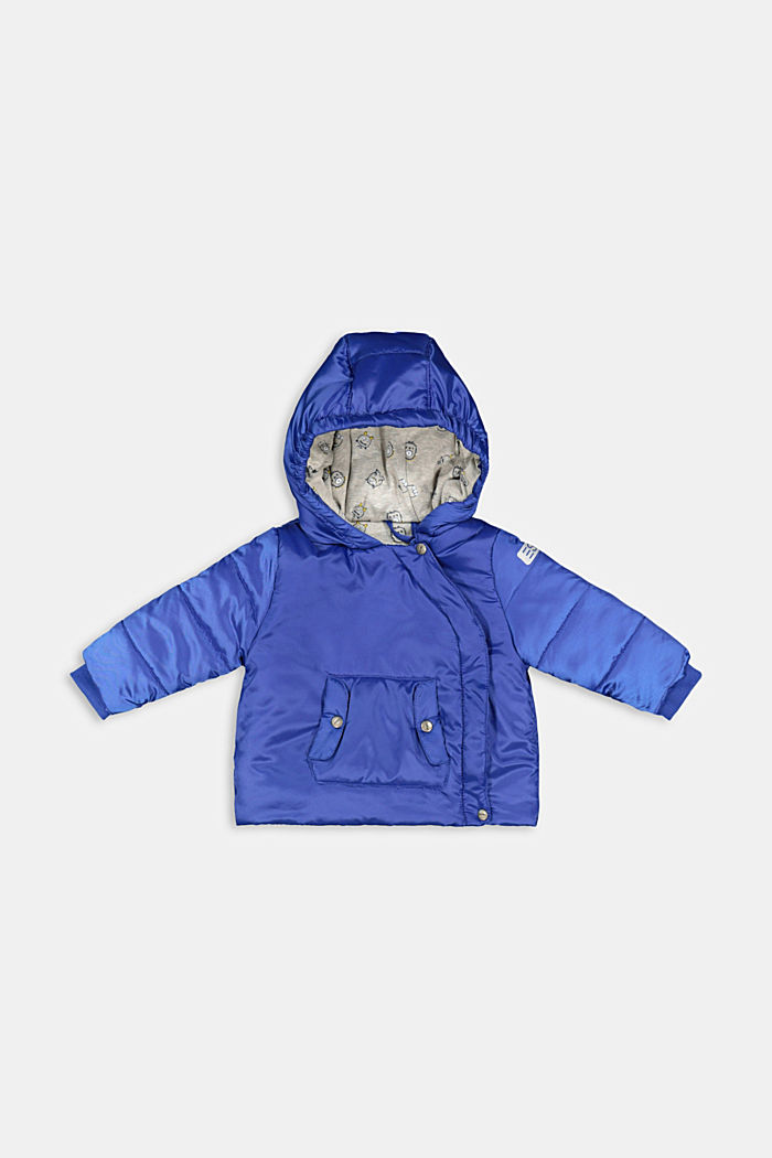 Padded jacket with jersey lining