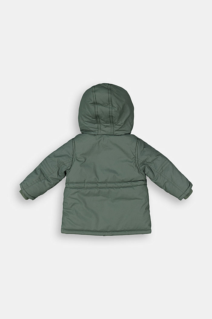 Padded parka with a faux fur hood, DUSTY GREEN, detail image number 1