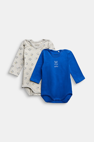 2-pack of bodies made of organic cotton with stretch