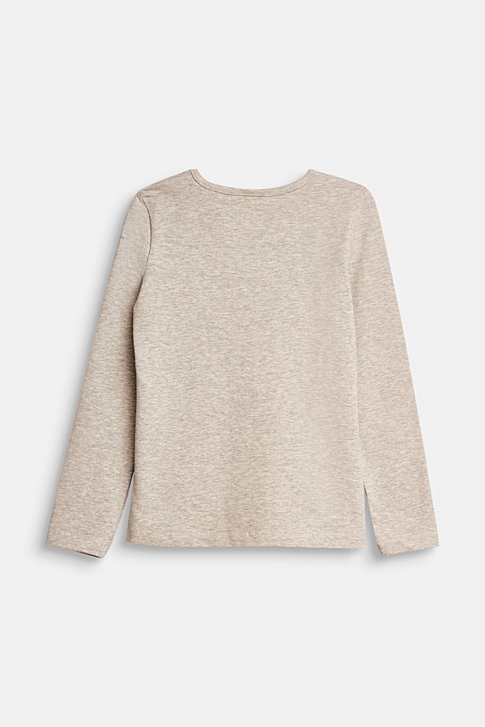 Long sleeve top with a varying print, MEDIUM GREY, detail image number 1