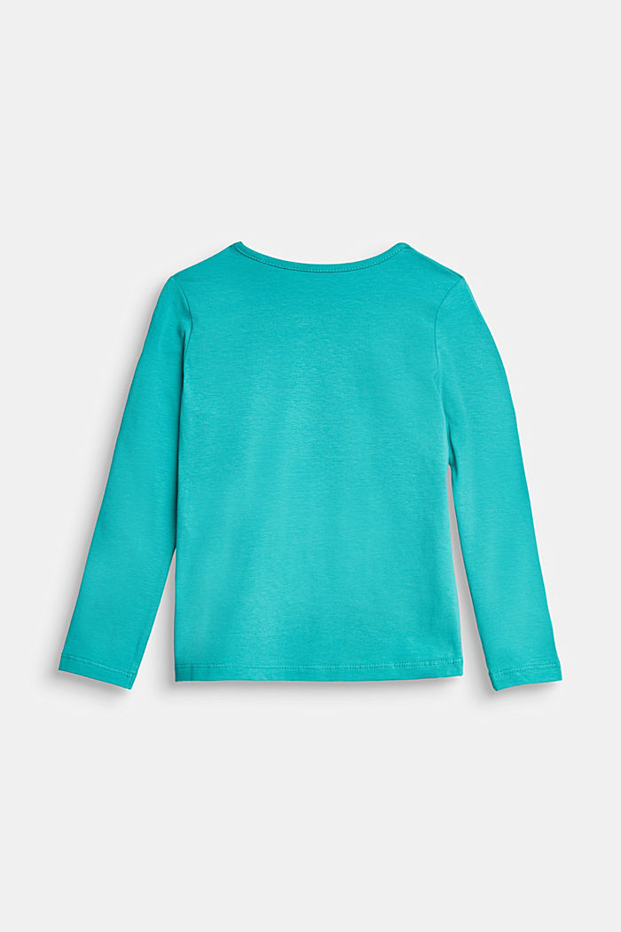 Long sleeve top with a varying print, TEAL GREEN, detail image number 1