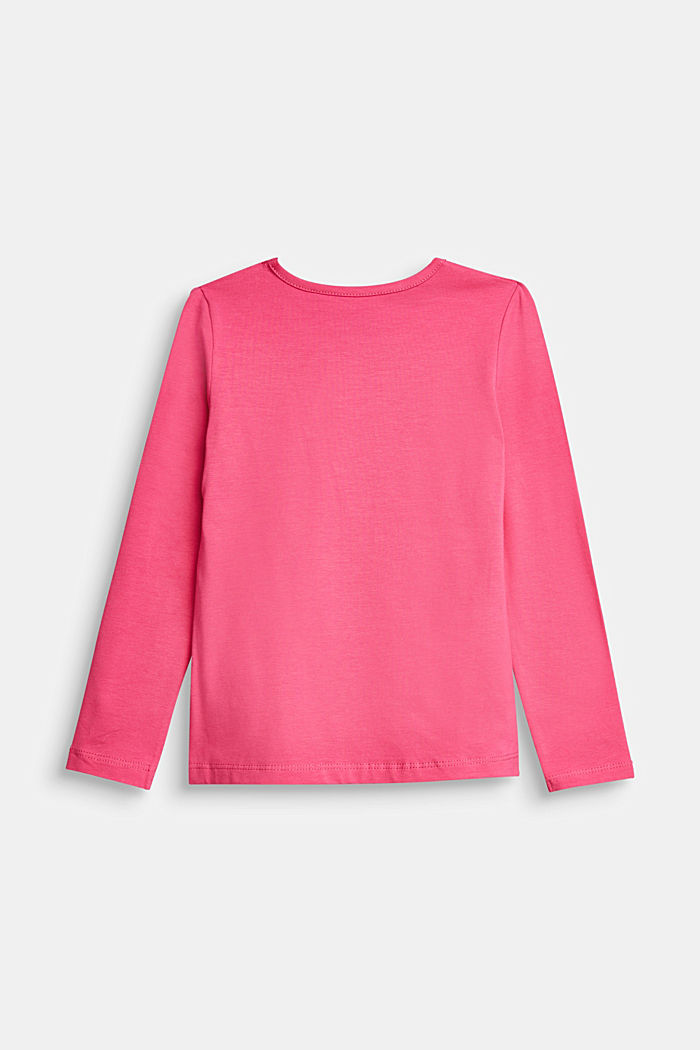 Long sleeve top with a varying print, PINK, detail image number 1