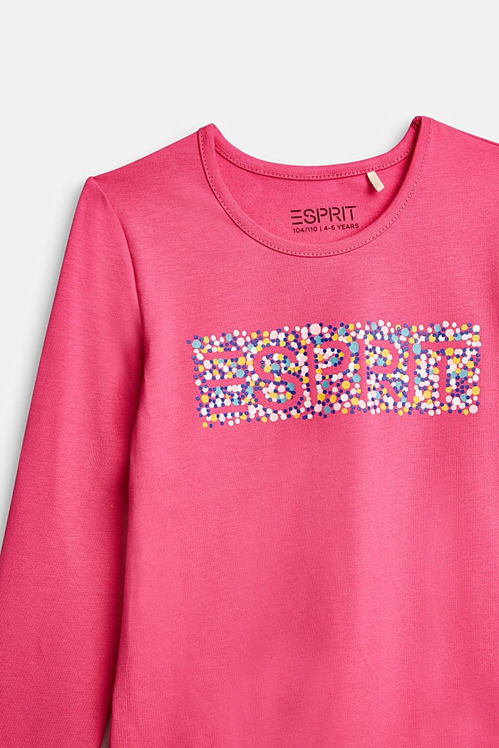 Long sleeve top with a varying print, PINK, detail image number 2