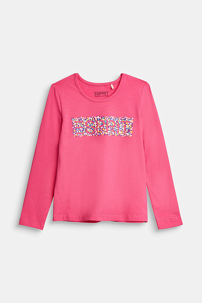 Long sleeve top with a varying print, PINK, detail image number 0