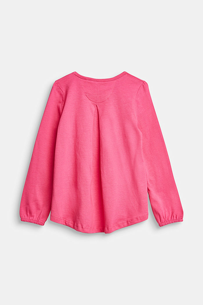 Printed long sleeve top, 100% cotton, PINK, detail image number 1
