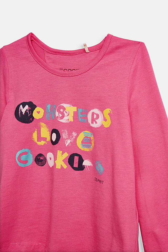 Printed long sleeve top, 100% cotton, PINK, detail image number 2
