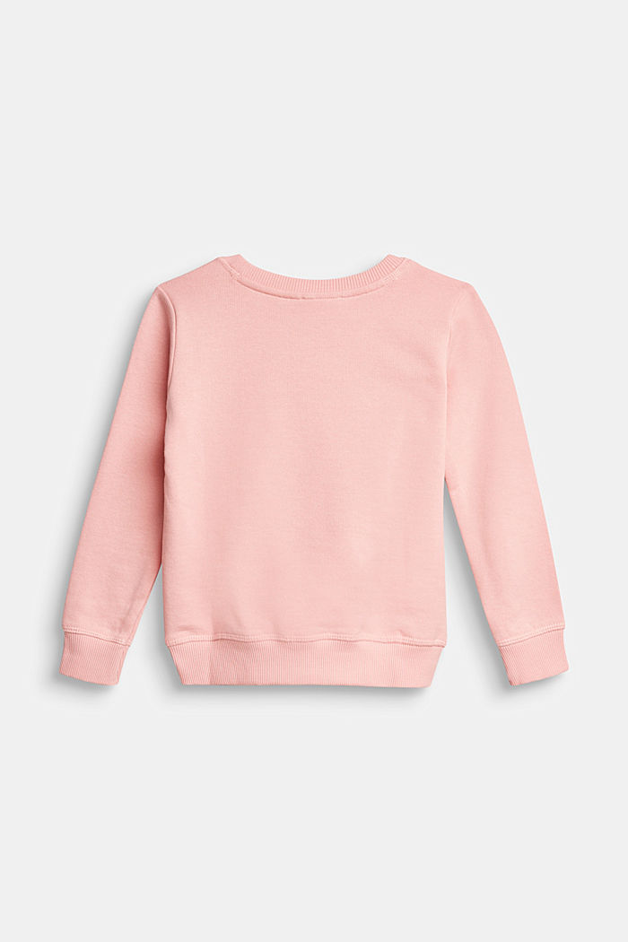 Basic Sweatshirt aus 100% Baumwolle, LIGHT PINK, detail image number 1