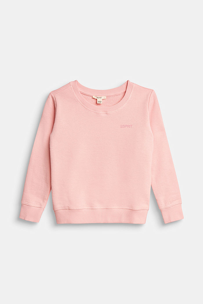 Basic Sweatshirt aus 100% Baumwolle, LIGHT PINK, detail image number 0