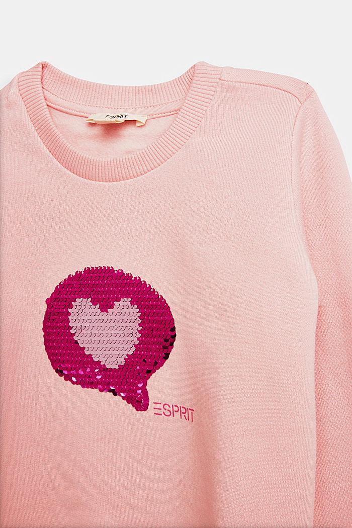 Sweatshirt with reversible sequins, LIGHT PINK, detail image number 2