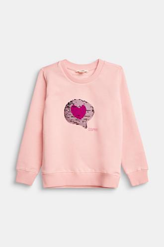 Sweatshirt with reversible sequins