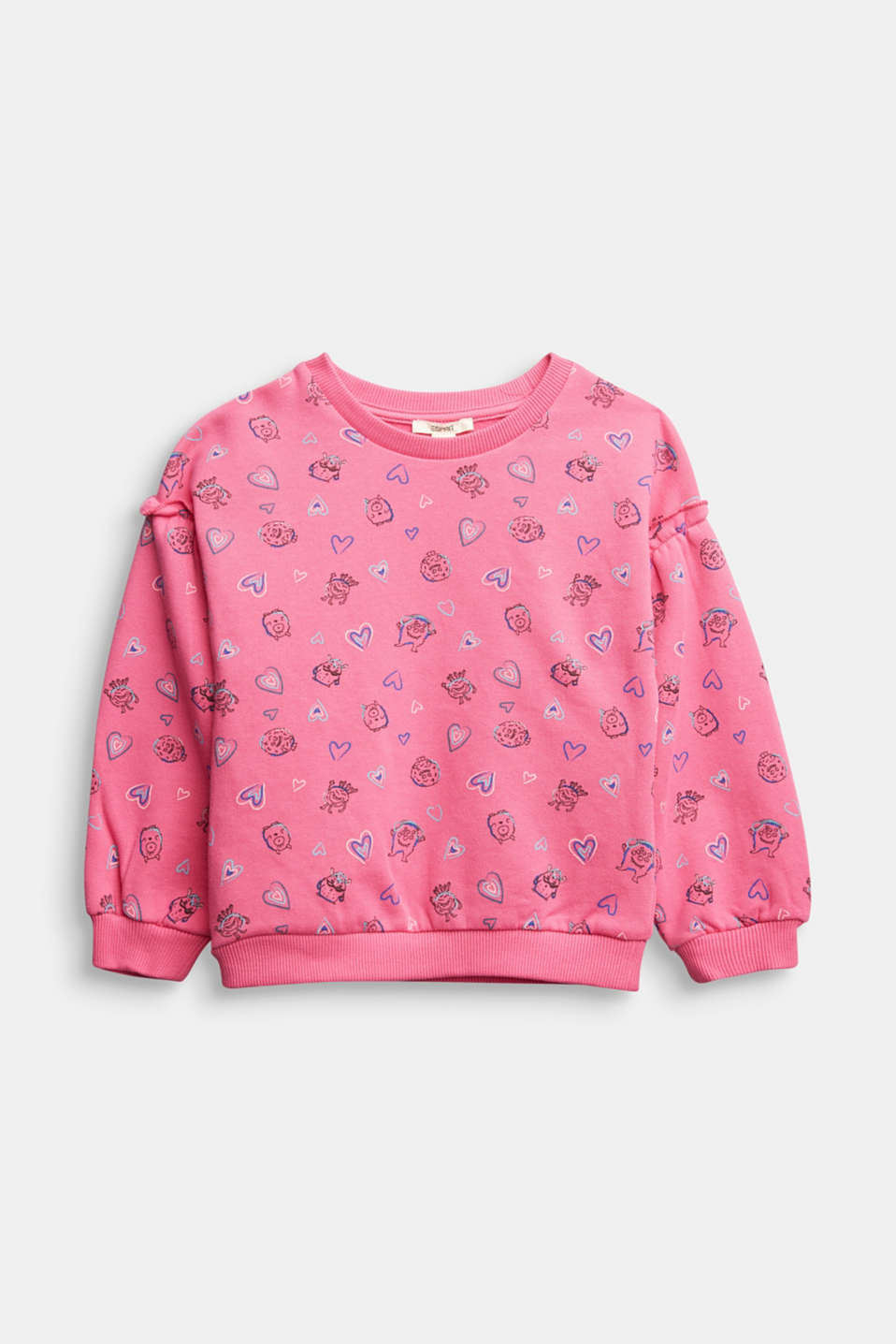 Esprit - Sweatshirt met print all-over, 100% katoen