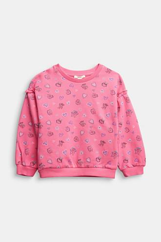 All-over print sweatshirt, 100% cotton