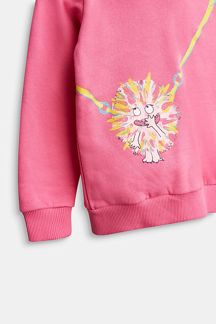 Sweatshirt with a print or reversible sequins, PINK, detail image number 2