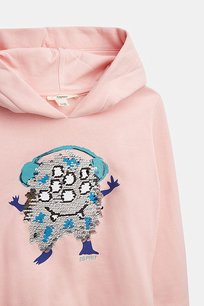 Sweatshirt with a print or reversible sequins, LIGHT PINK, detail image number 2