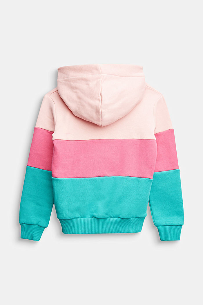 Colour block sweatshirt, 100% cotton, LIGHT PINK, detail image number 1