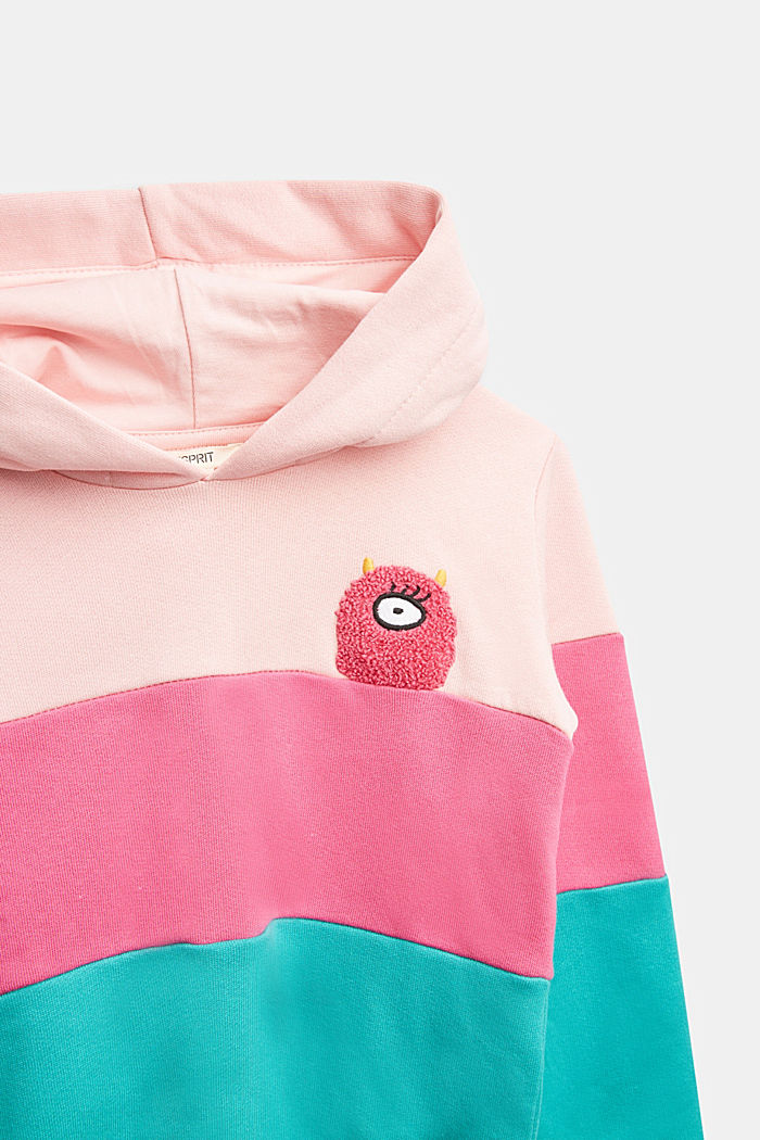 Colour block sweatshirt, 100% cotton, LIGHT PINK, detail image number 2