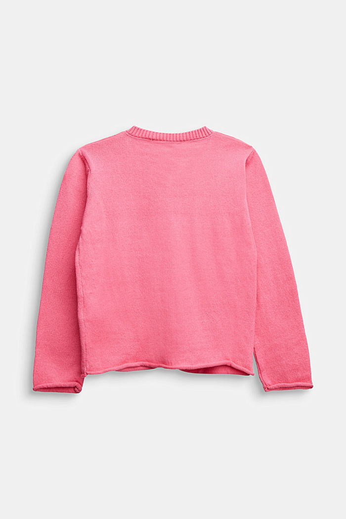 Basic cardigan in 100% cotton, PINK, detail image number 1