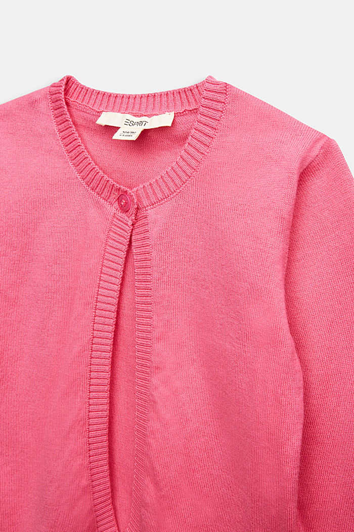 Basic cardigan in 100% cotton, PINK, detail image number 2