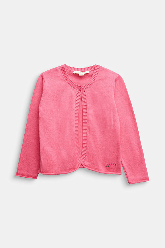 Basic cardigan in 100% cotton, PINK, detail image number 0