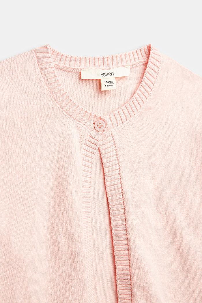 Basic Cardigan aus 100% Baumwolle, LIGHT PINK, detail image number 2