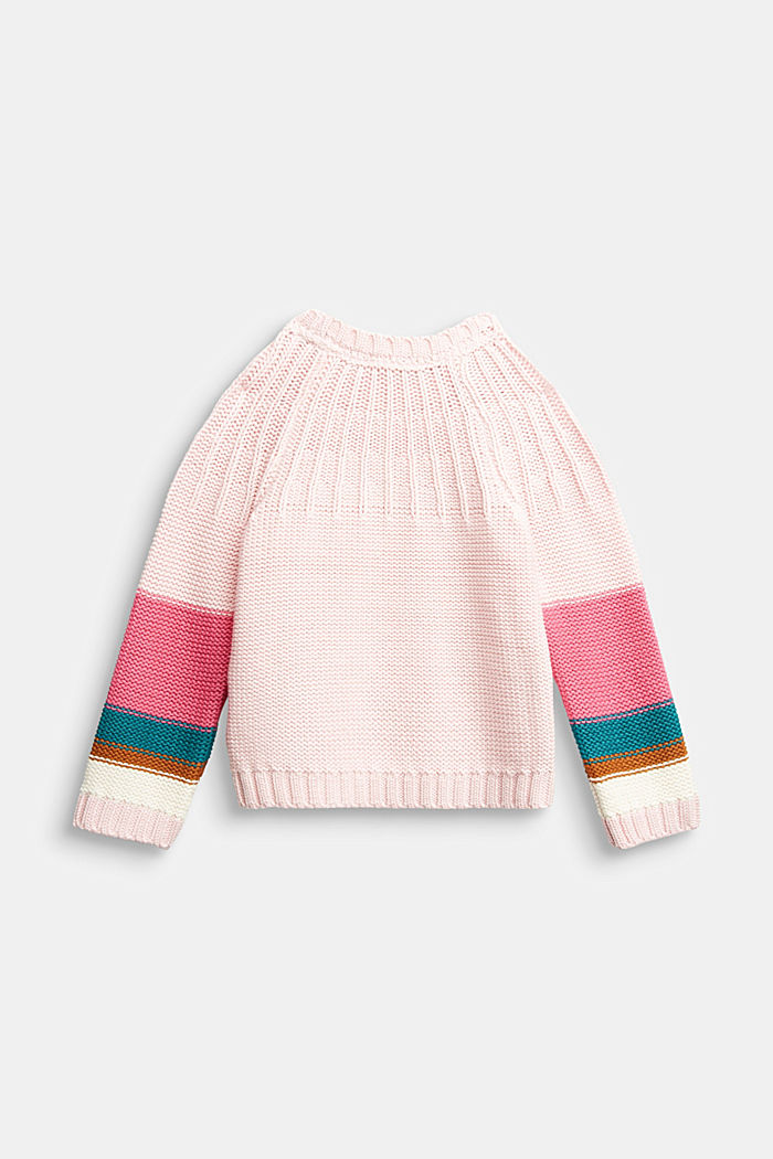 Jumper with colour block stripes, LIGHT PINK, detail image number 1