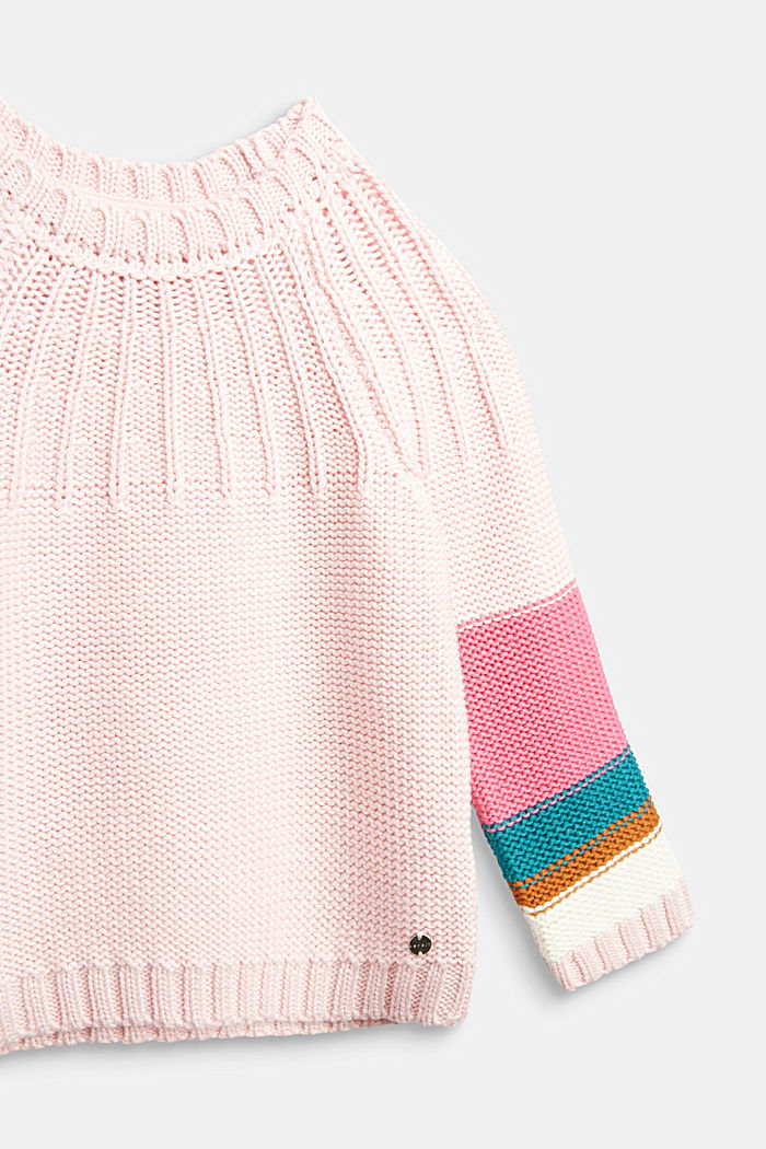Jumper with colour block stripes, LIGHT PINK, detail image number 2