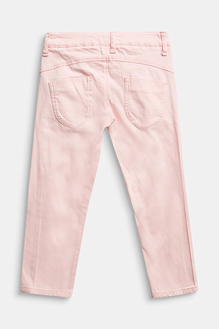 Stretch cotton trousers, LIGHT PINK, detail image number 1