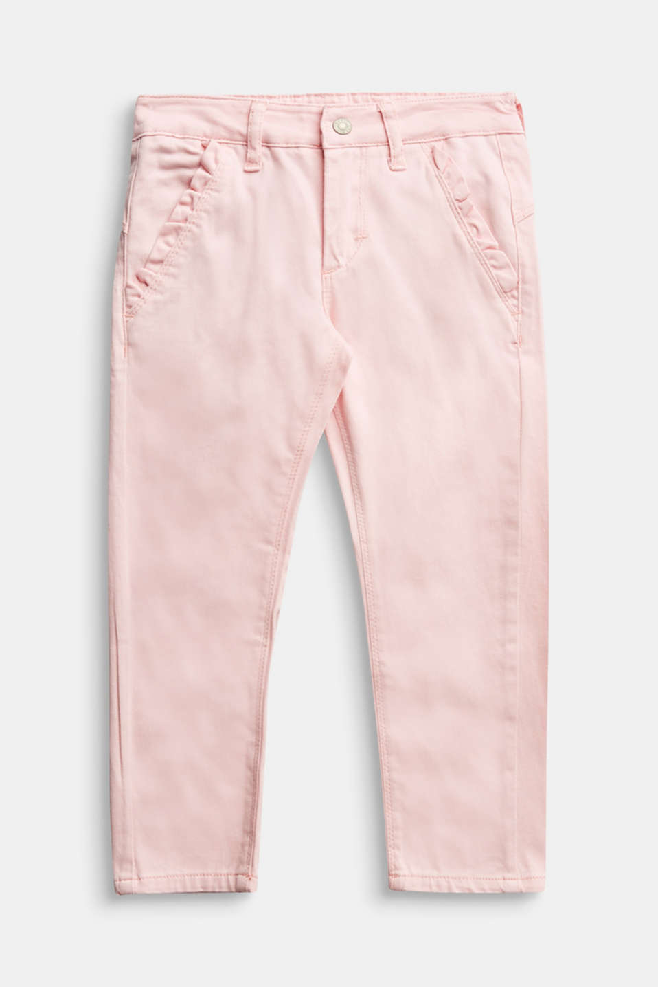 Esprit - Pantalon en coton stretch