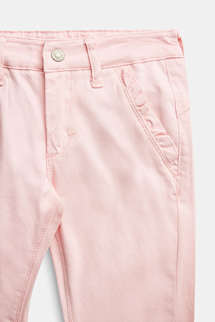 Stretch cotton trousers, LIGHT PINK, detail image number 2