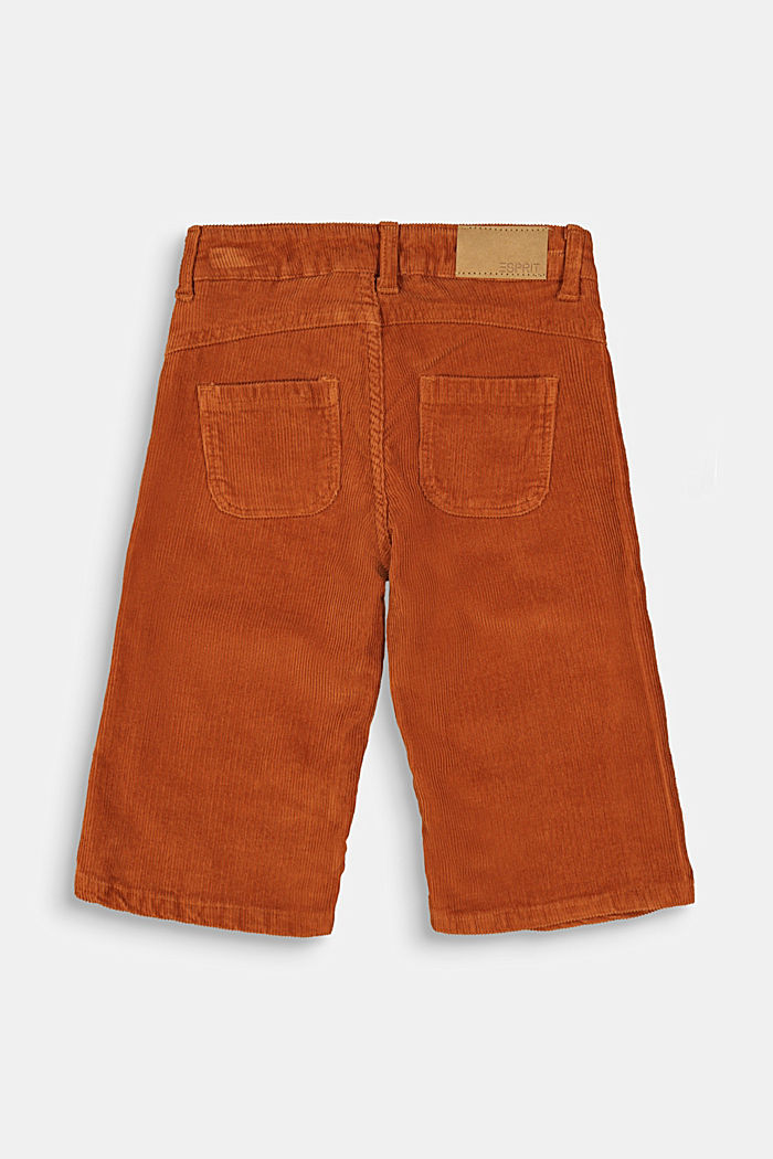 Corduroy culottes with adjustable waistband, RUST BROWN, detail image number 1