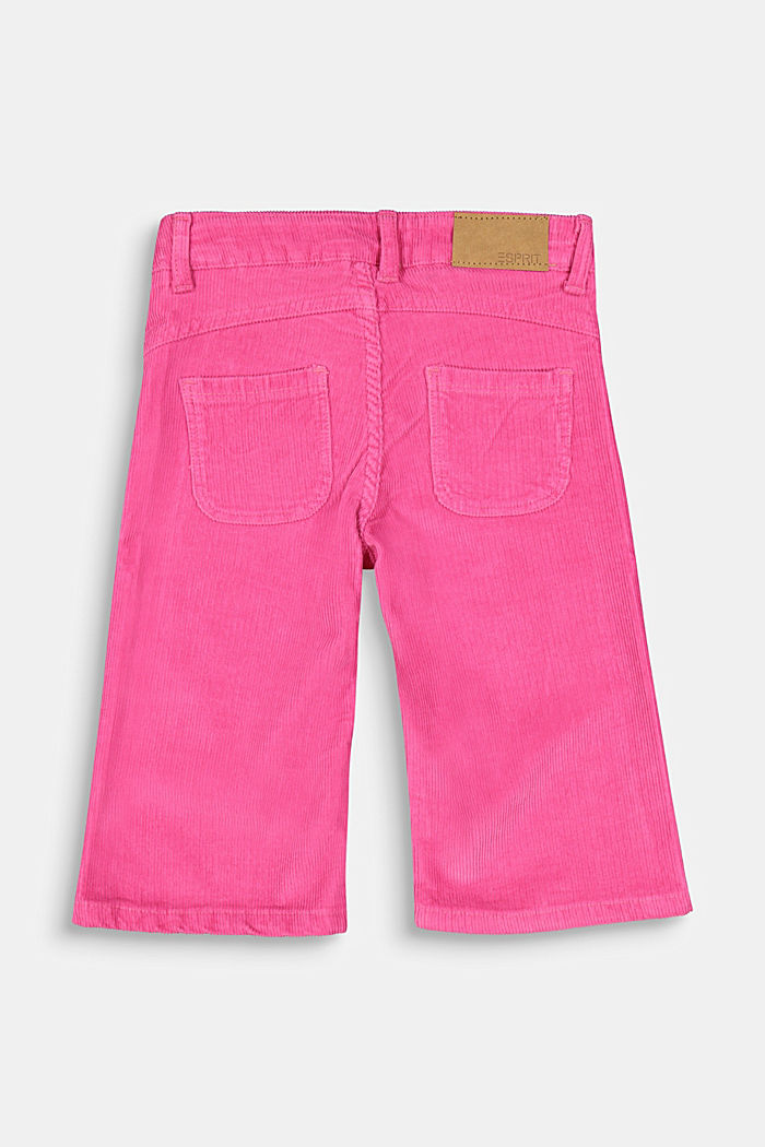 Corduroy culottes with adjustable waistband, PINK, detail image number 1