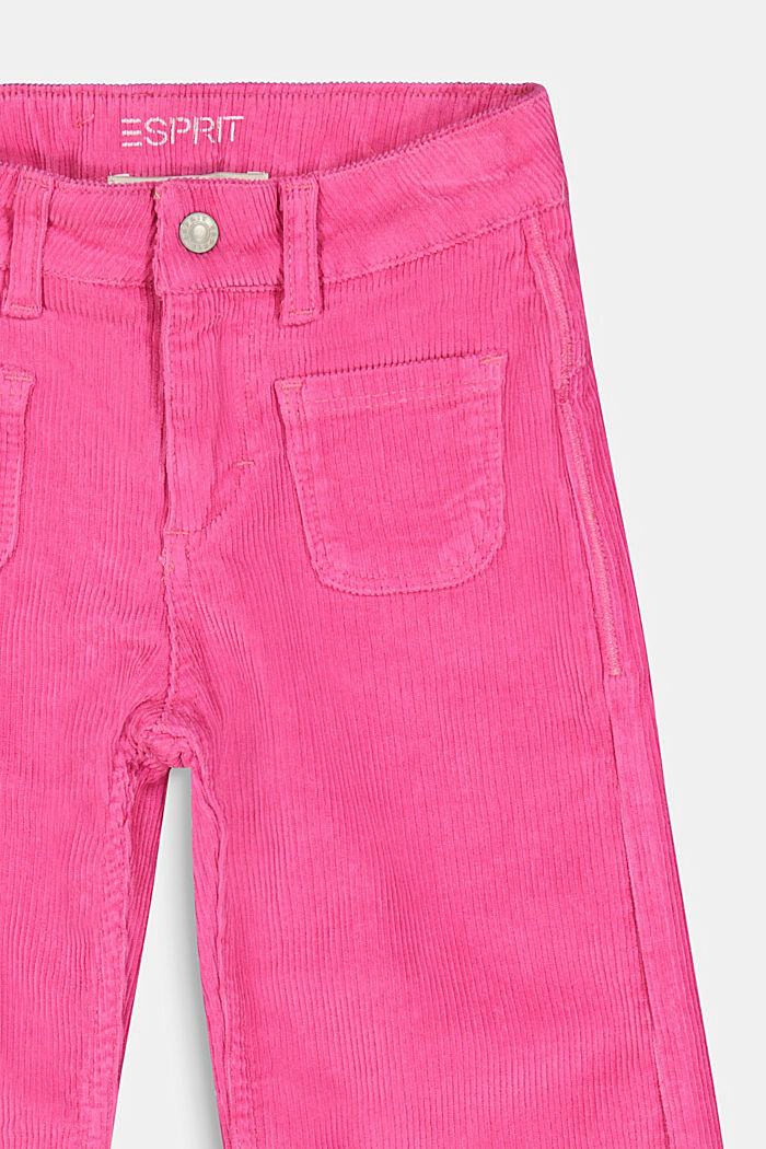 Corduroy culottes with adjustable waistband, PINK, detail image number 2