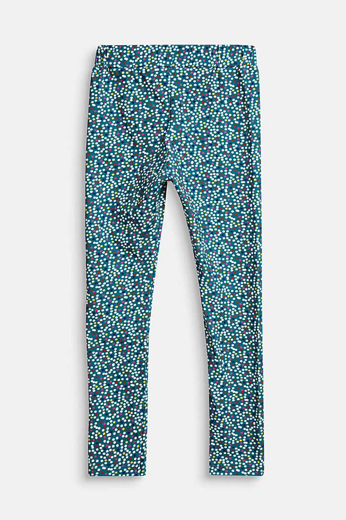 Leggings with a colourful polka dot print