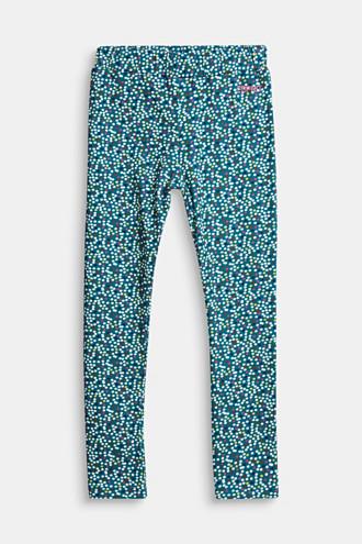 Leggings with a colourful polka dot print