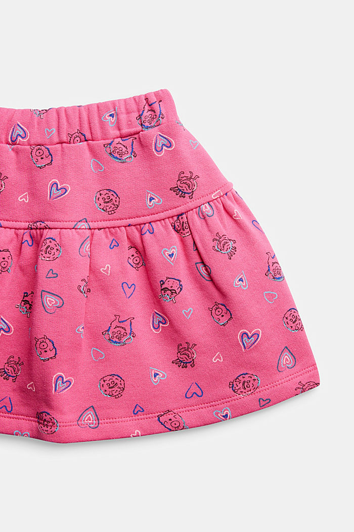 Sweatshirt skirt in 100% cotton, PINK, detail image number 2
