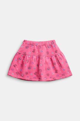 Sweatshirt skirt in 100% cotton, PINK, detail
