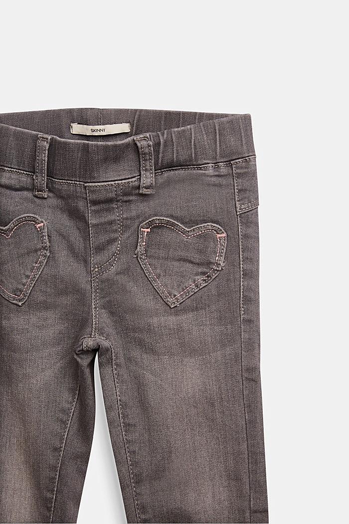Jeggings with heart pockets, BLUE MEDIUM WASHED, detail image number 2