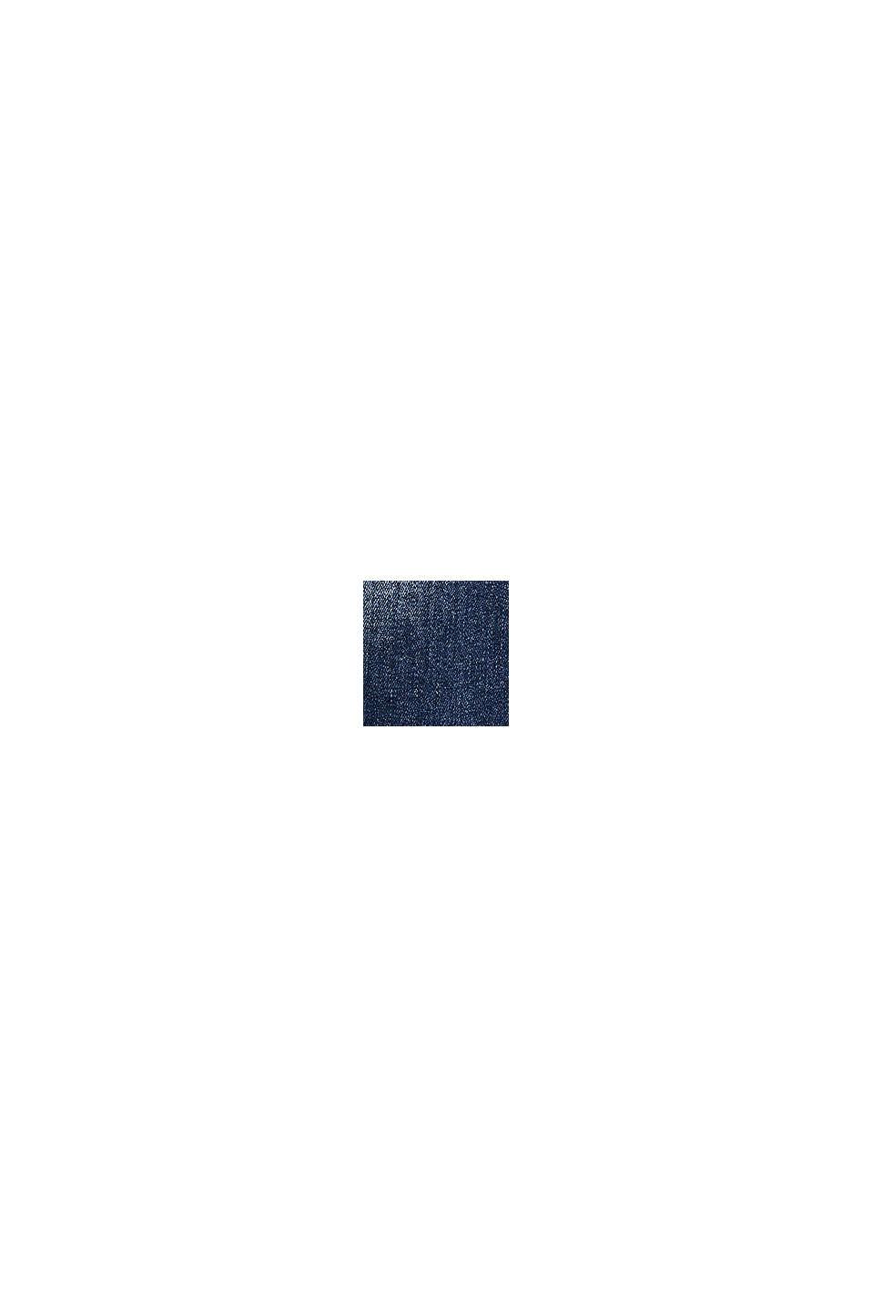 Culotte in jeans con orlo di tendenza, vita regolabile, BLUE MEDIUM WASHED, swatch