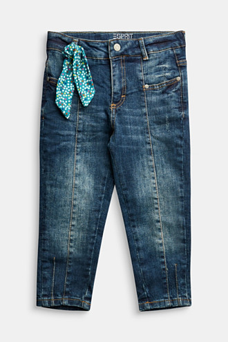 Stretch jeans with a tie detail