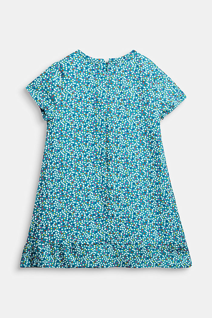 Printed dress, DARK TEAL GREEN, detail image number 1