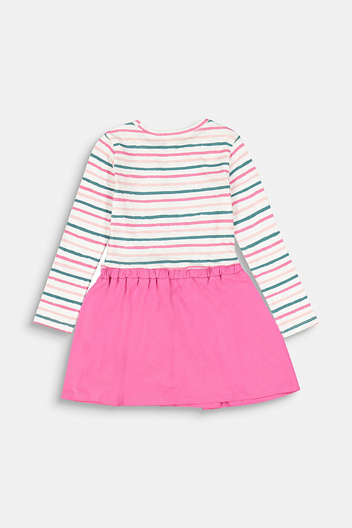 Dress in a two-piece look, 100% cotton, PINK, detail image number 1