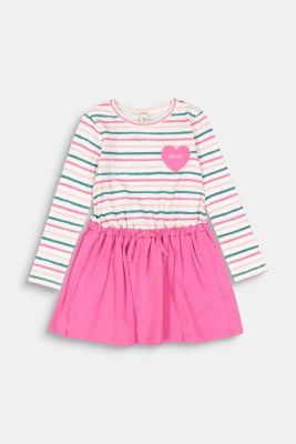 Dress in a two-piece look, 100% cotton, PINK, detail