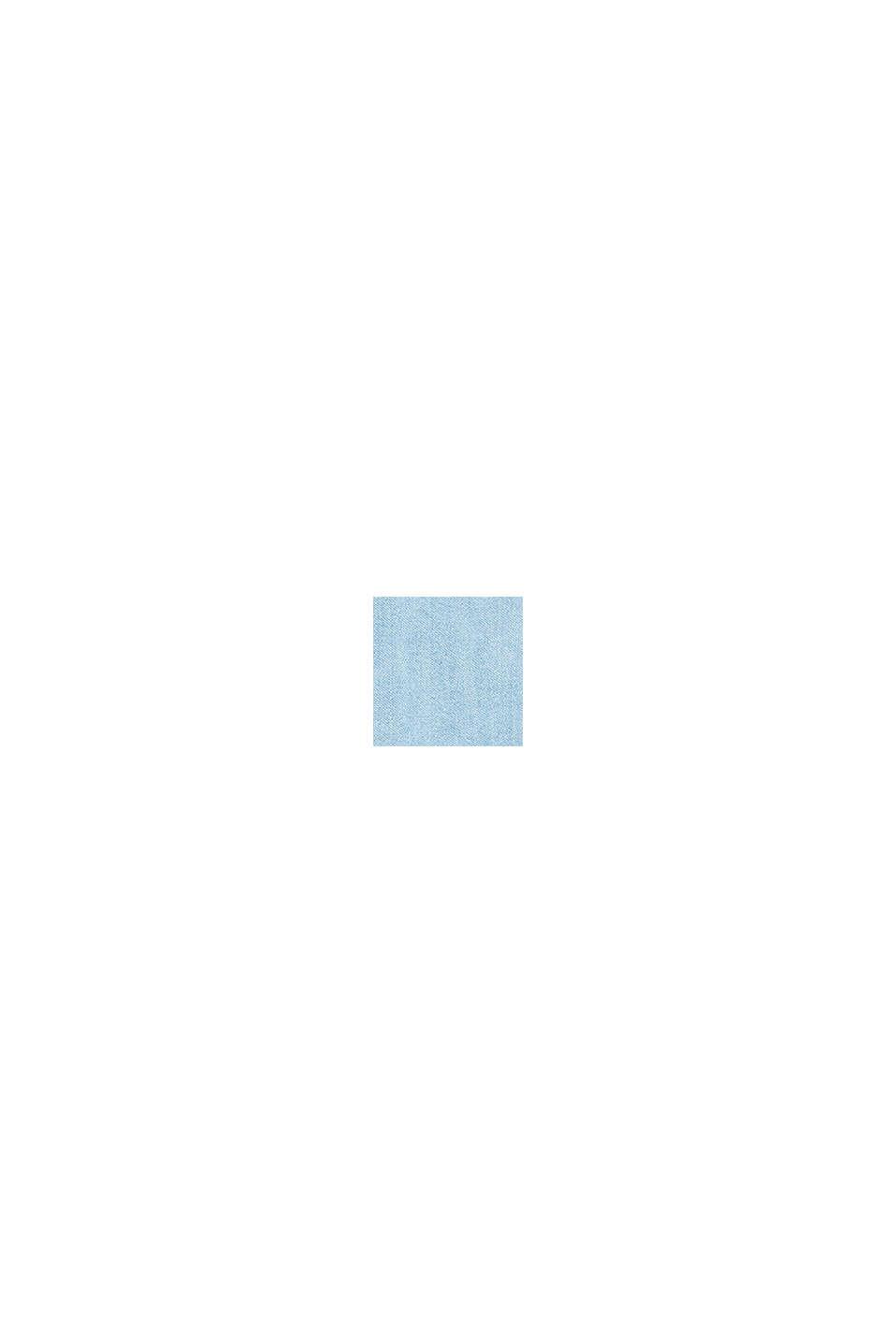 Denim jurk met een volant aan de zoom, BLUE MEDIUM WASHED, swatch