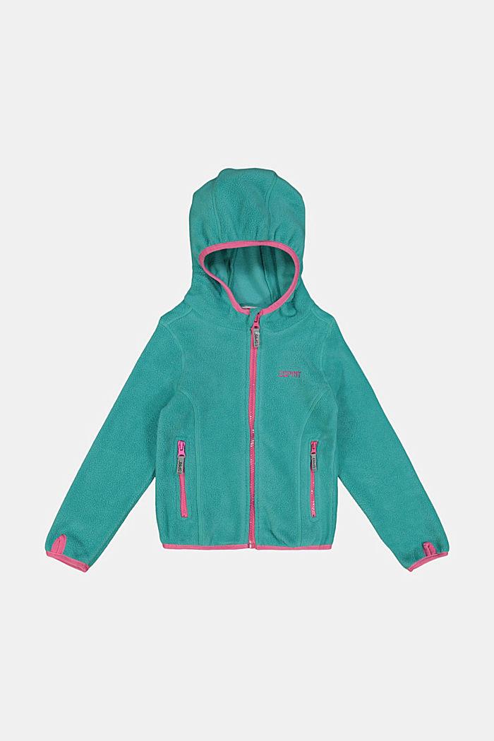 Fleece jacket with a hood