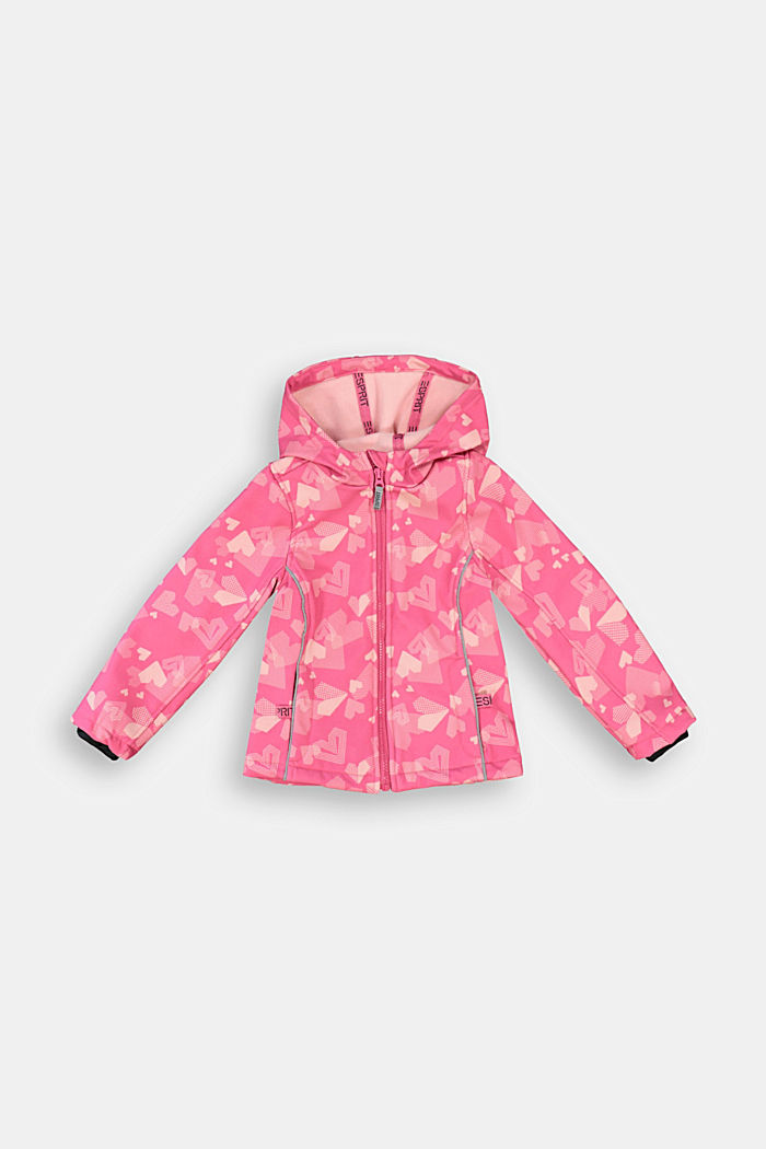 Softshell jacket with a heart print