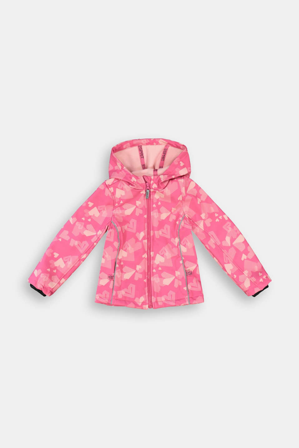 Esprit - Softshell jacket with a heart print