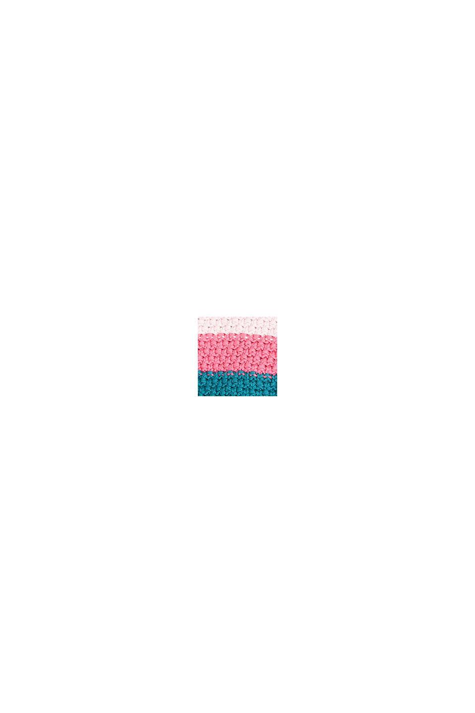 Strick-Mütze mit Pompom, PINK, swatch